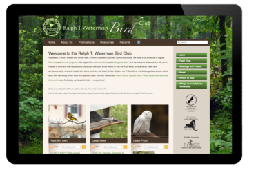 Photo of website for Waterman Bird Club