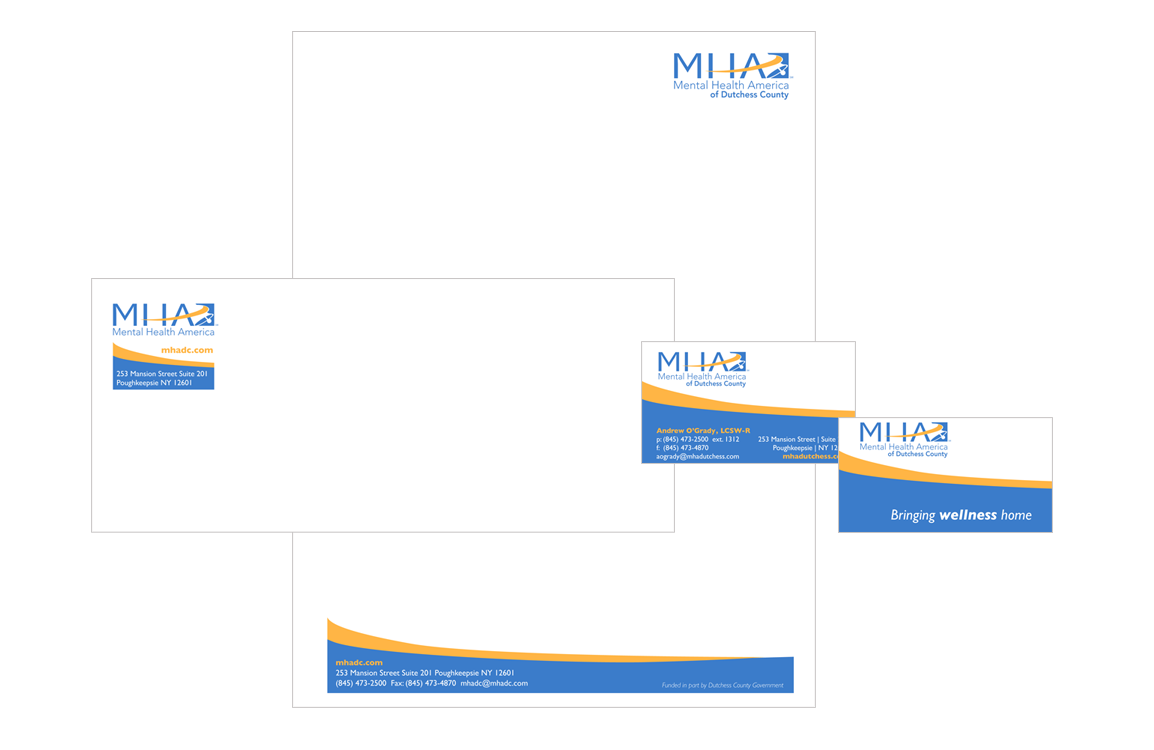 photo of stationery for Mental Health America of Dutchess County