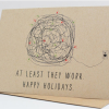 photo of holiday card with happy Holiday Lights