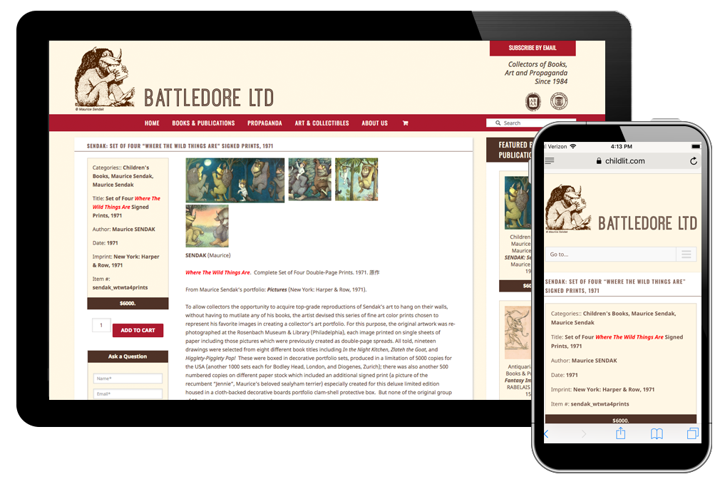 Photo of website for Battledore