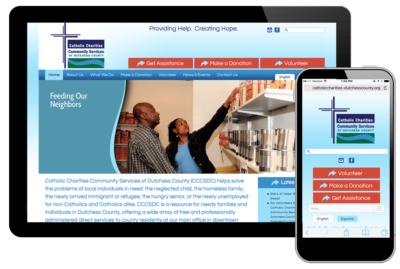 Photo of website for Catholic Charities of Dutchess County