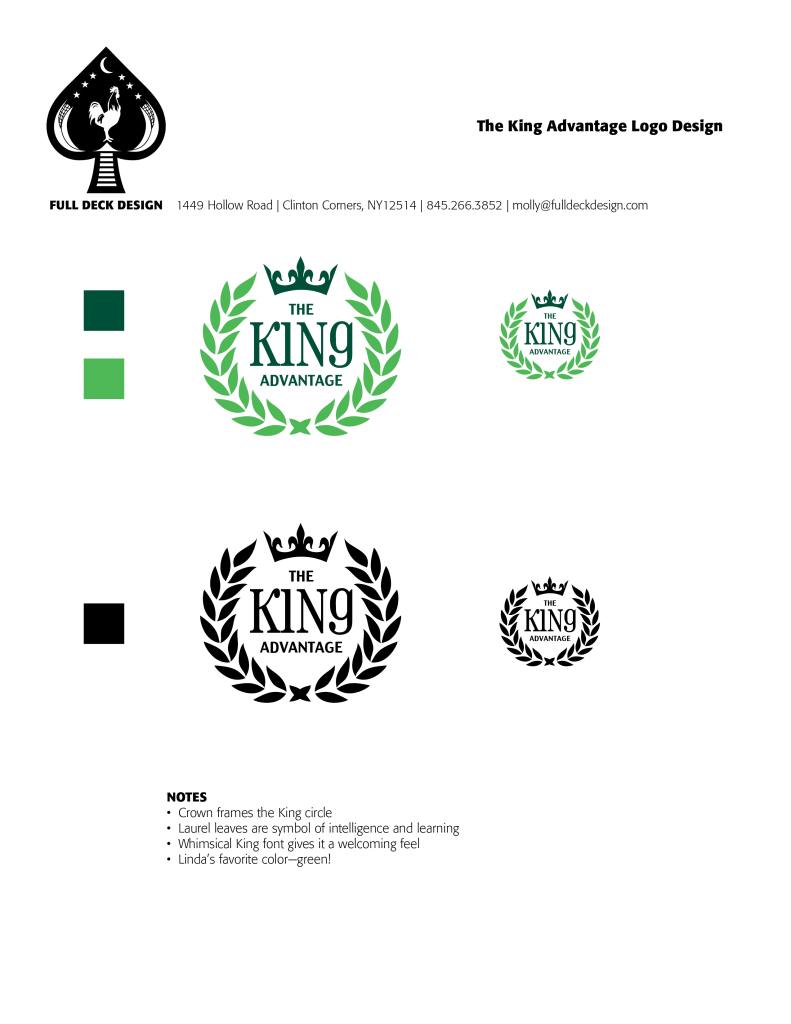 King Advantage Logo Design Comp