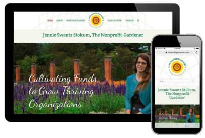 photo of website for The Nonprofit Gardener