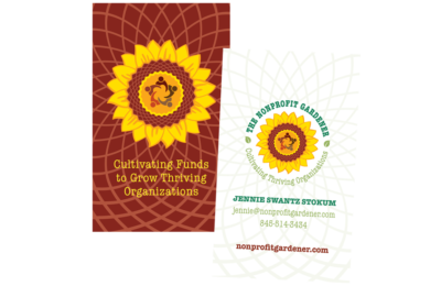 photo of business cards for The Nonprofit Gardener