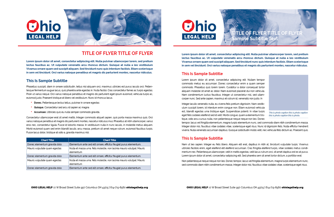 photo of flyers guide for Ohio Legal Help