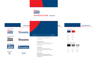 photo of brand standards guide for Ohio Legal Help