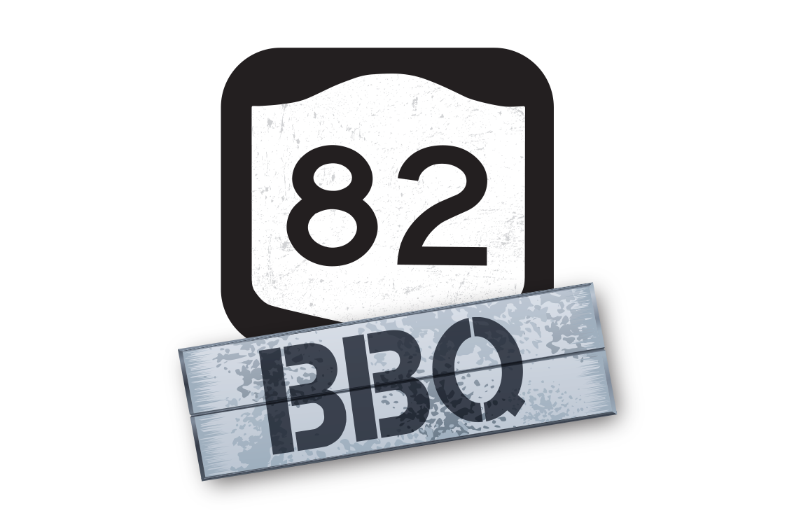 image of logo design for 82 BBQ