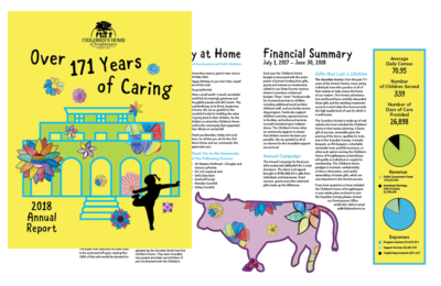 image of 2018 Annual Report for the Children's Home