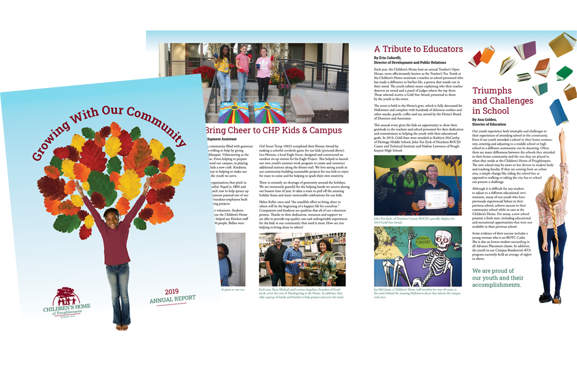 photo of 2019 annual report for Children's Home of Poughkeepsie