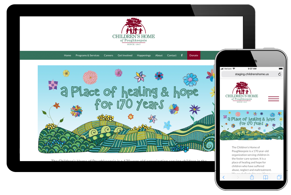 photo of website for Children's Home of Poughkeepsie