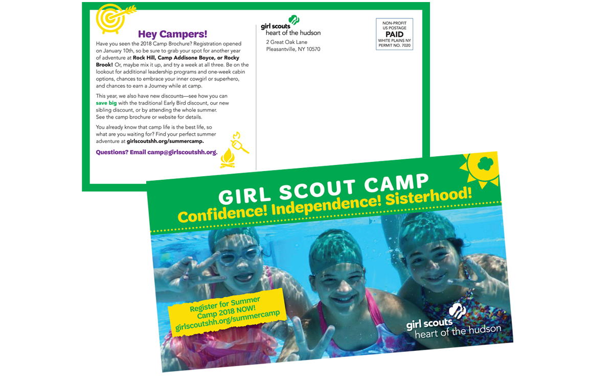 photo of Girl Scout camp post card