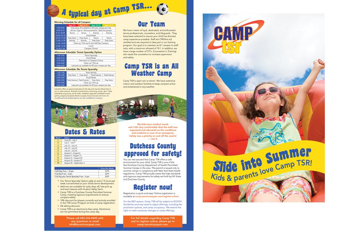 image of Camp TSR brochure