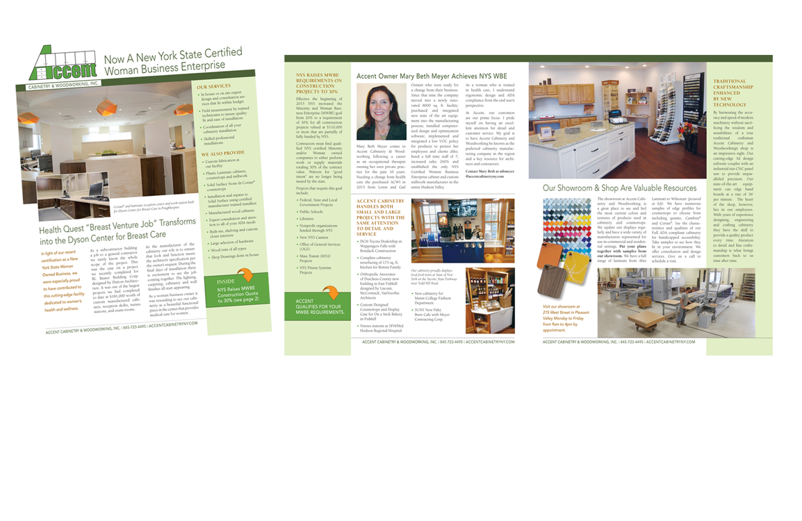 Photo of newsletter for Accent Cabinetry
