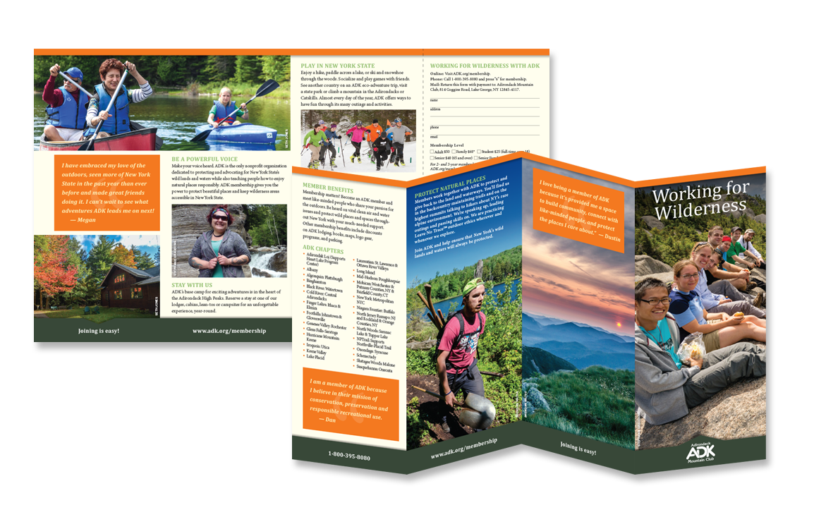 photo of brochure for Adirondack Mountain Club