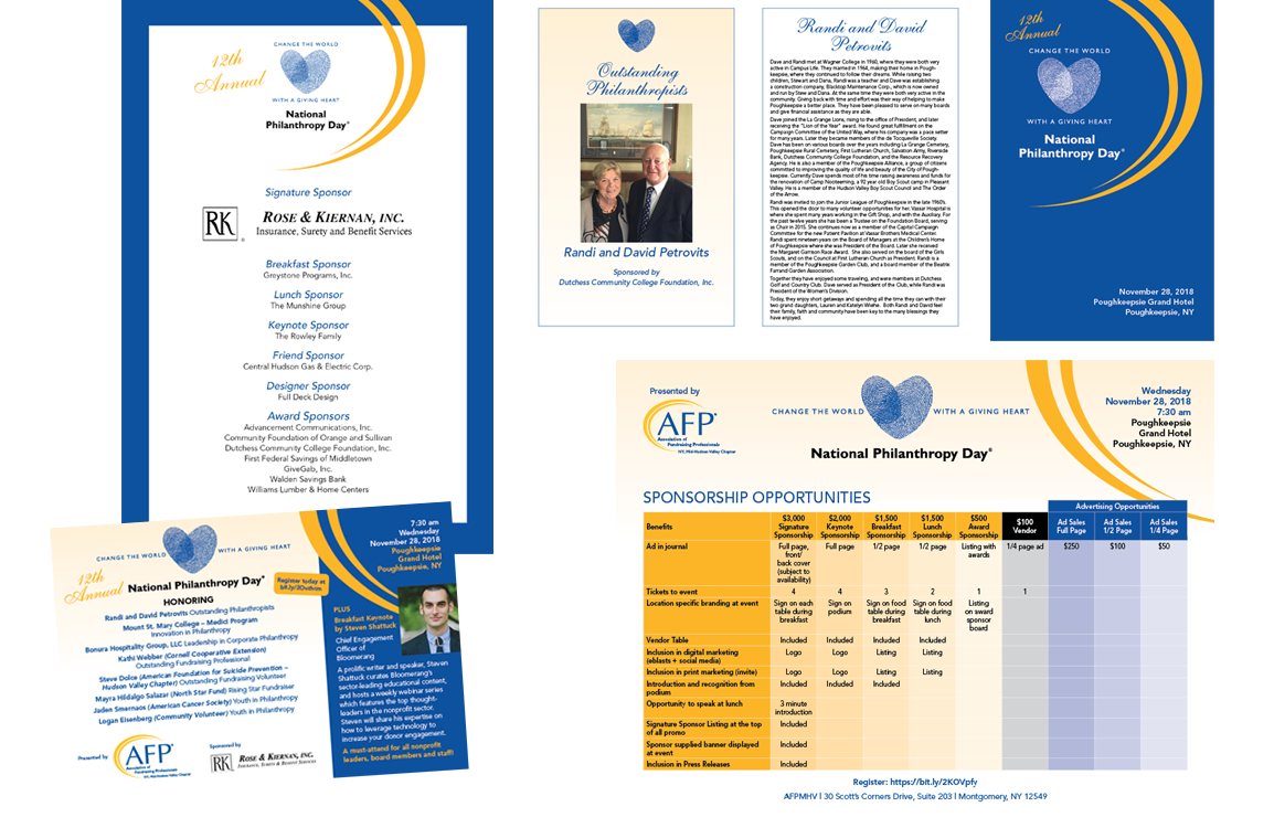 Photo of national philanthropy day marketing materials
