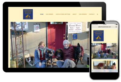 Photo of website for Albanhaus