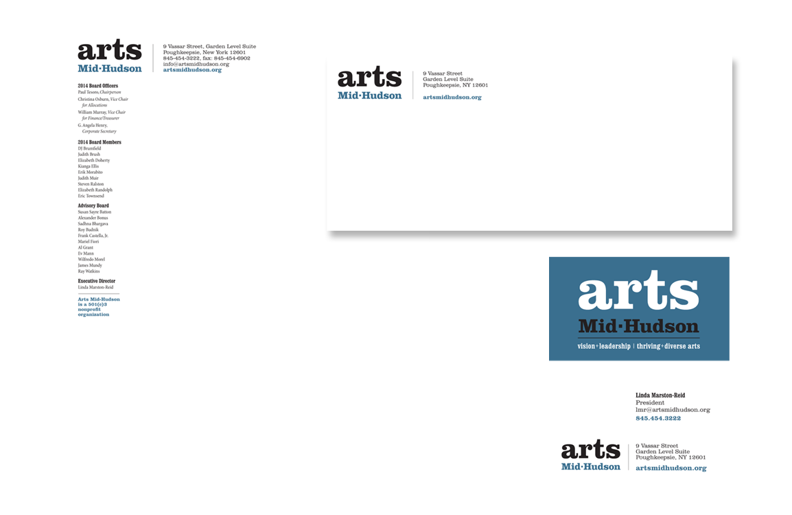 photo of stationery for Arts Mid-Hudson