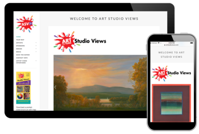 Photo of website for Art Studio Views