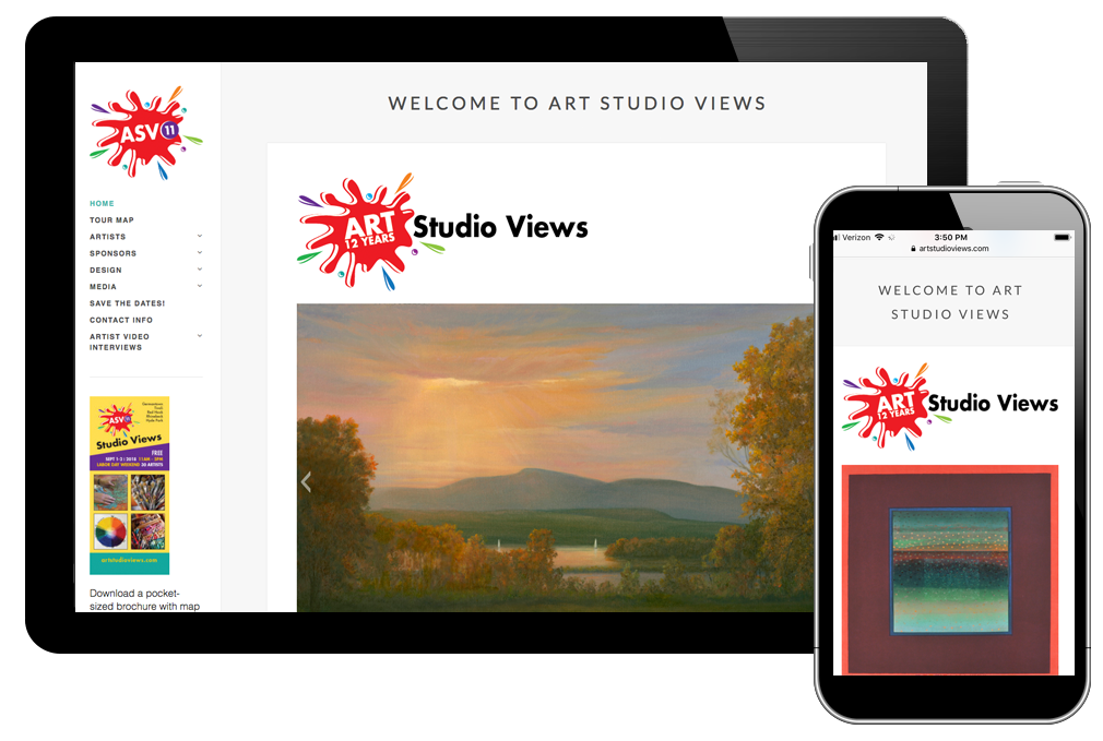 Photo of website for Art Studio Views