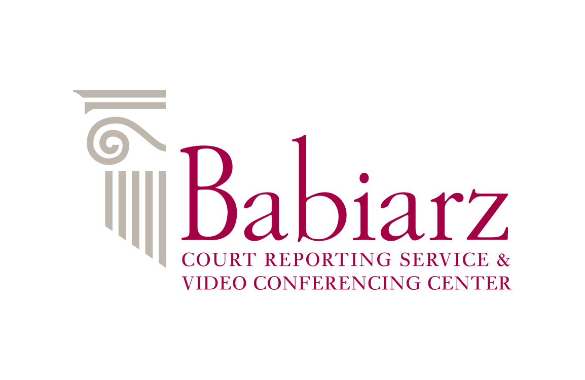 image of logo design for Babiarz Court Reporting Service and Conference Center