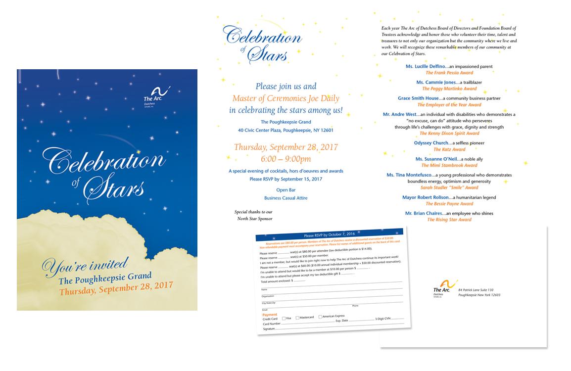 Photo of celebration of stars invitation package