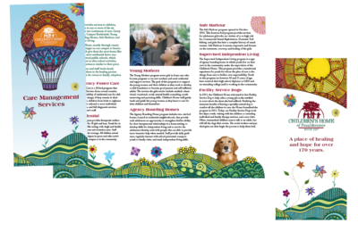 photo of brochures for Children's Home of Poughkeepsie