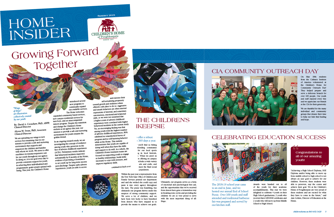 photo of newsletter for the Children's Home of Poughkeepsie