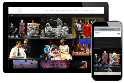 Photo of website for Academy of Harriet Bass Casting