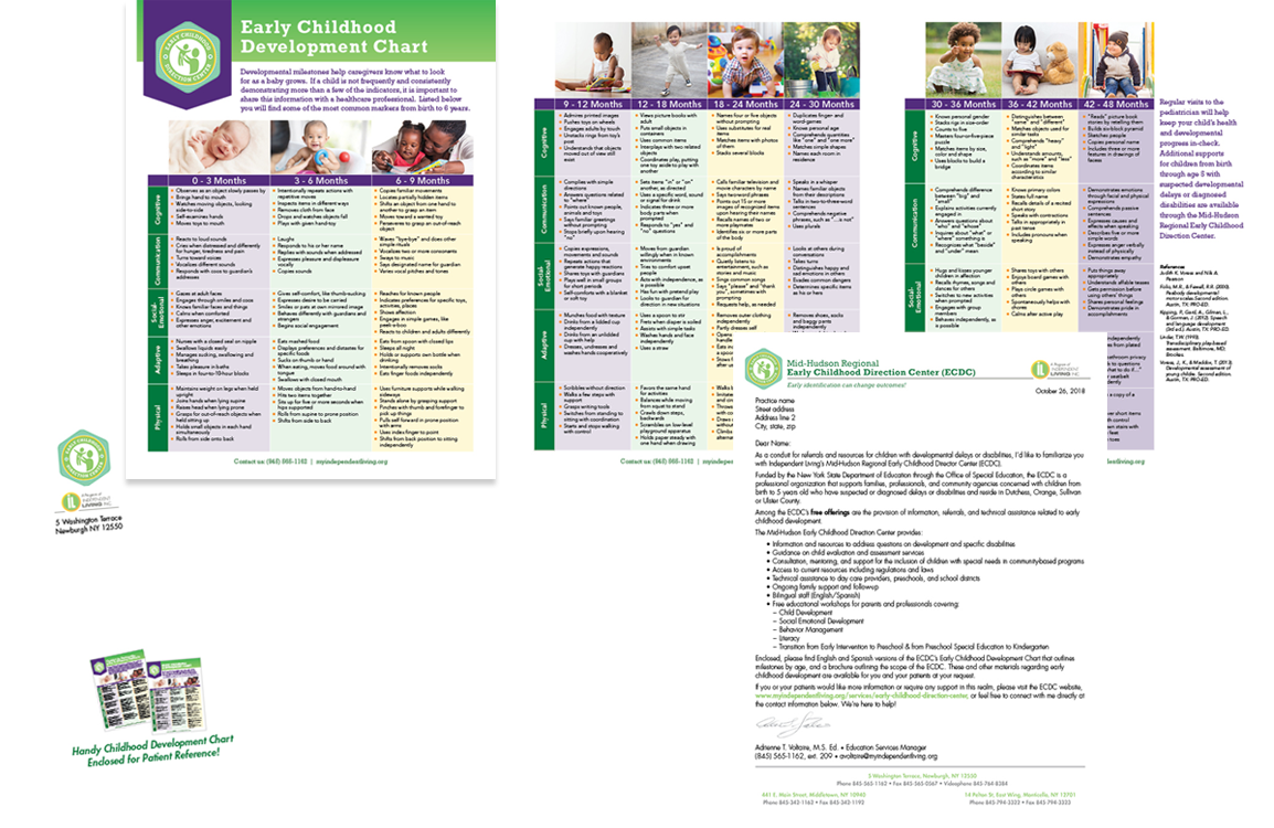 Photo of early childhood development chart for Independent Living