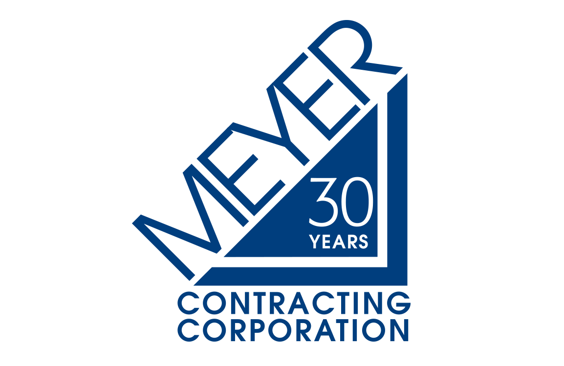 image of anniversary logo design for Meyer Contracting Corp