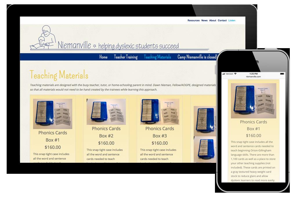 Photo of website for Niemanville
