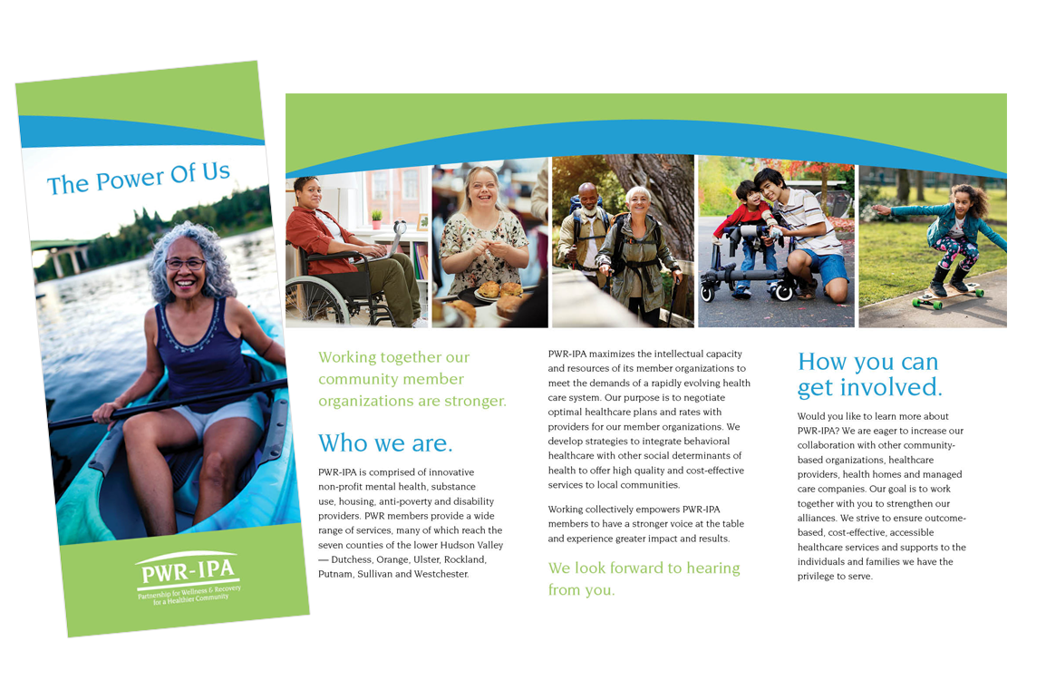 photo of PWR-IPA trifold brochure