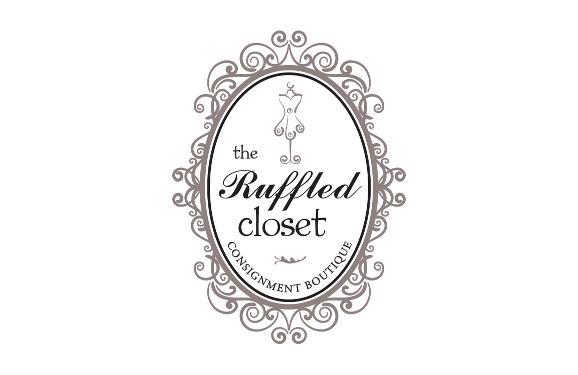 image of logo design for the Ruffled Closet Consignment Boutique