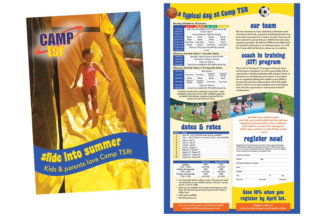 Photo of Camp TSR brochure