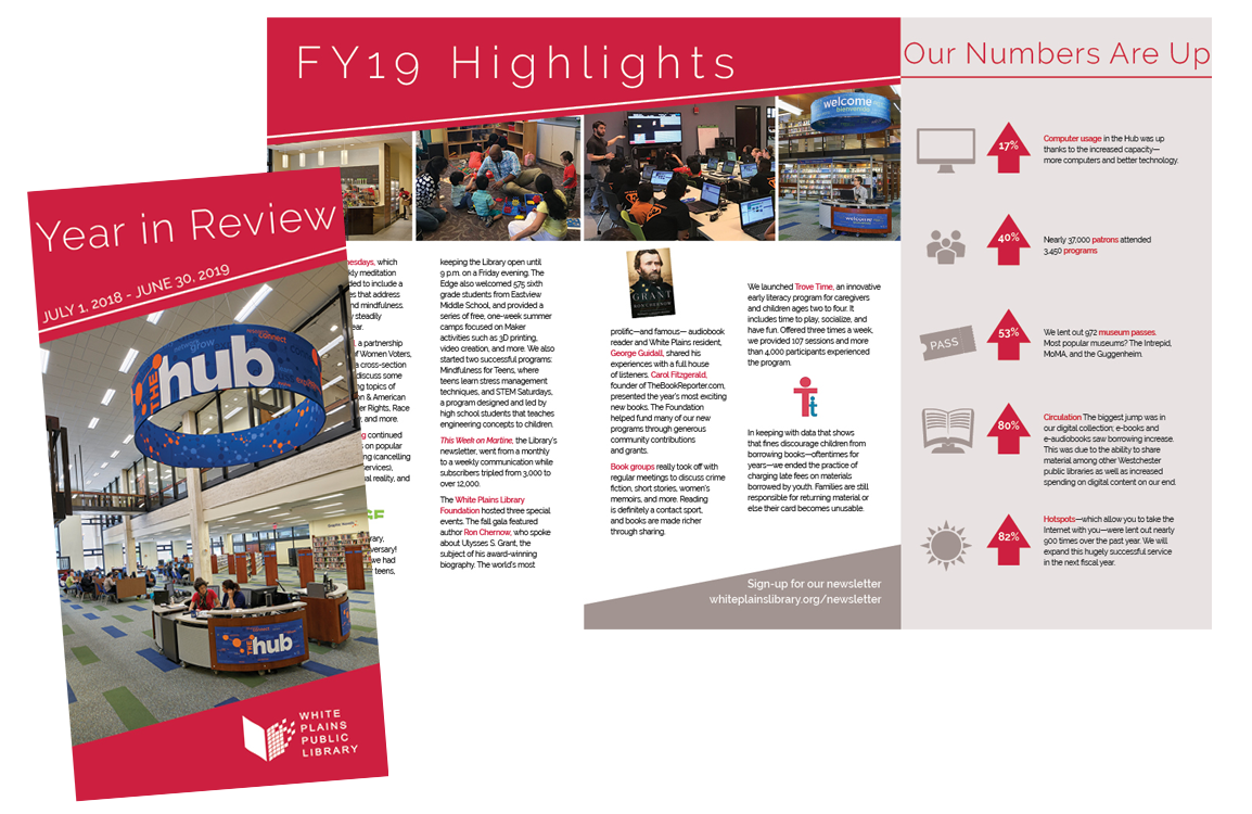 image of White Plains Library Year in Review report