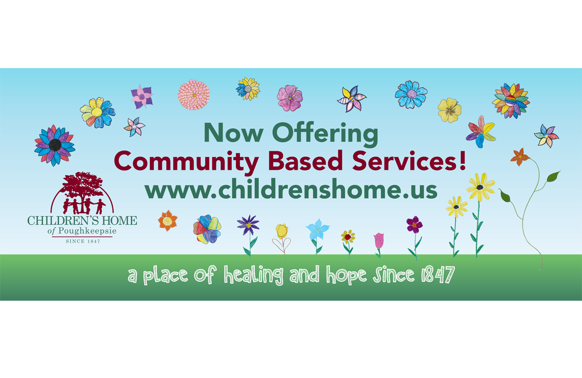 photo of billboard for Community Based Services at the Children's Home of Poughkeepsie