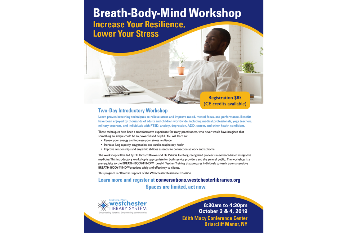 image of flyer for breath body mind workshop