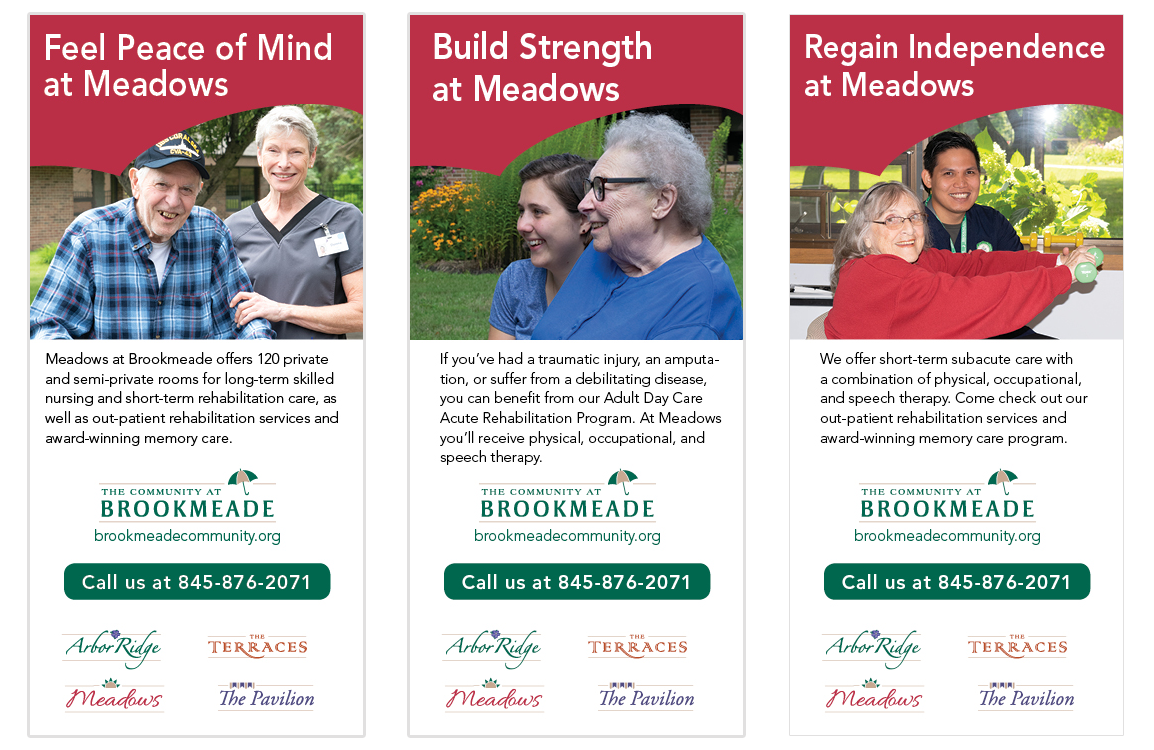 photo of 3 ads for the community at brookmeade