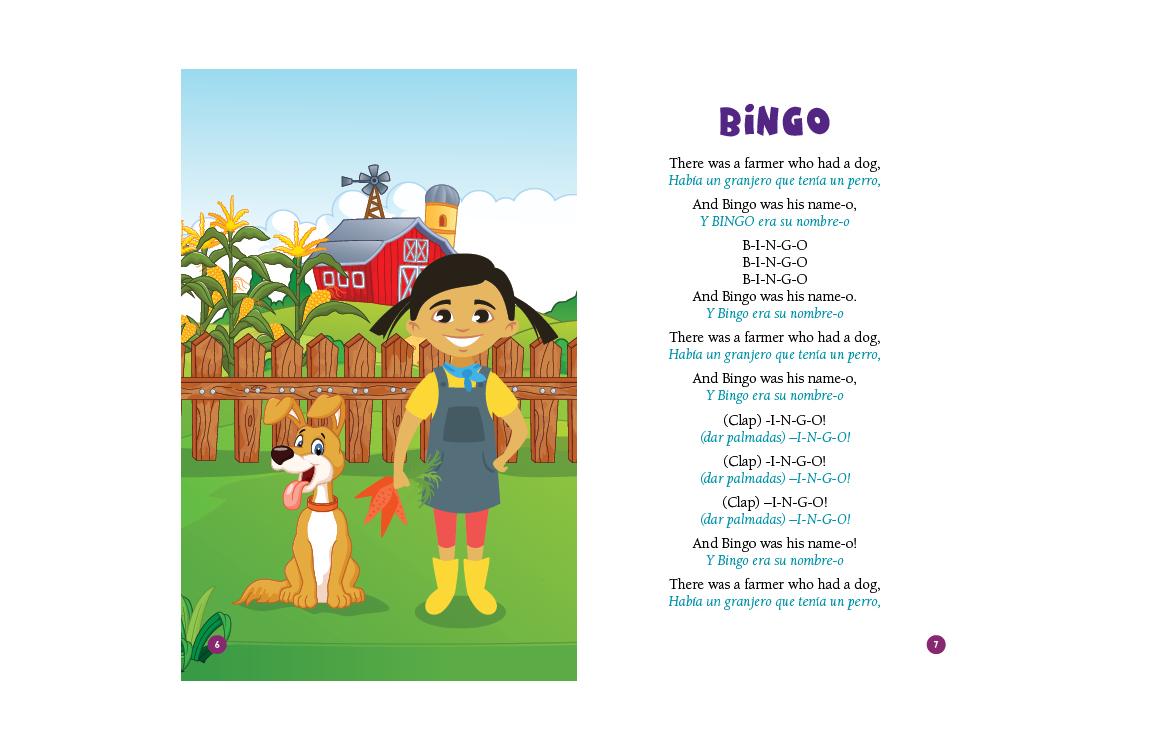 photo of illustration and lyrics to Bingo