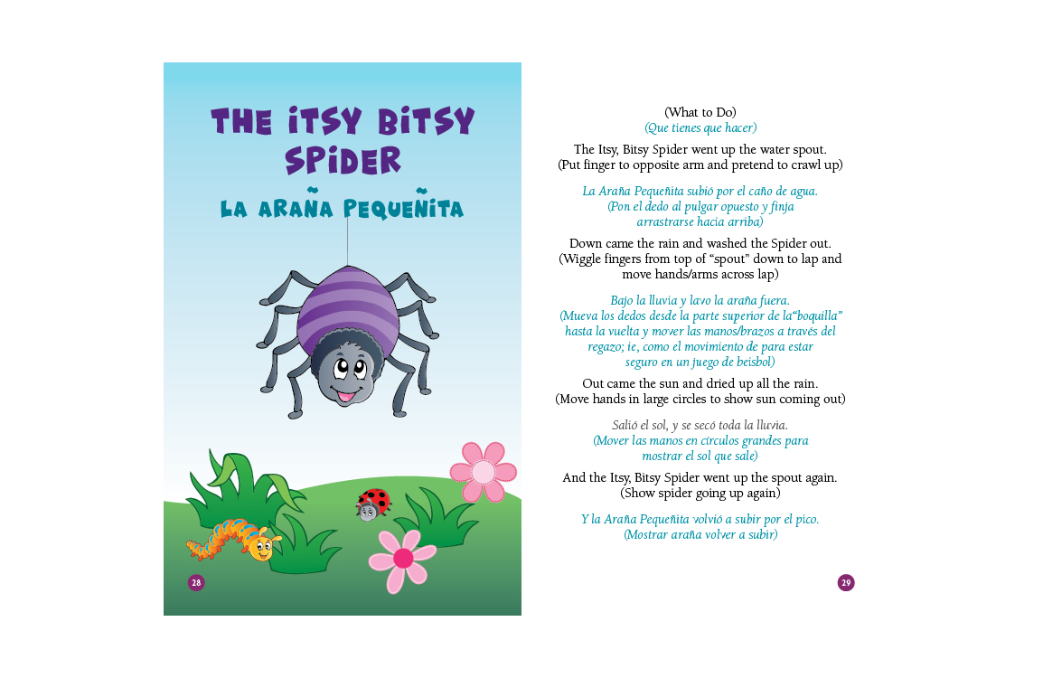 photo of illustration and lyrics to The Itsy Bitsy Spider