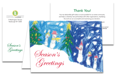 image of Season's Greetings card annual appeal for Independent Living