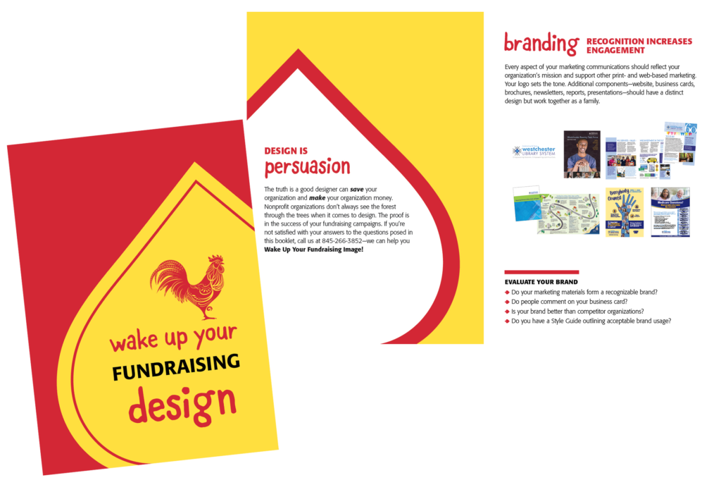 photo of wake up your fundraising design brochure