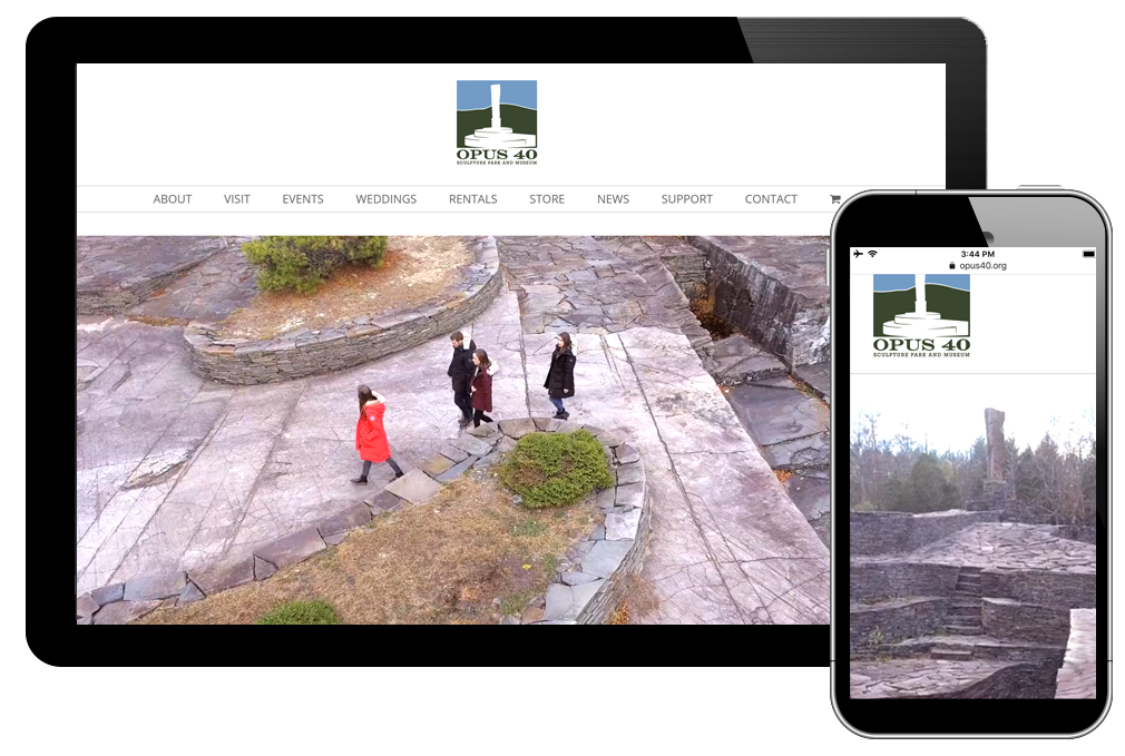 photo of Opus 40 home page