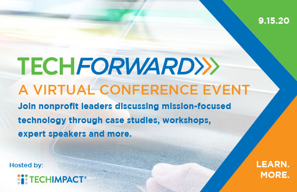 photo of ad for Tech Forward event