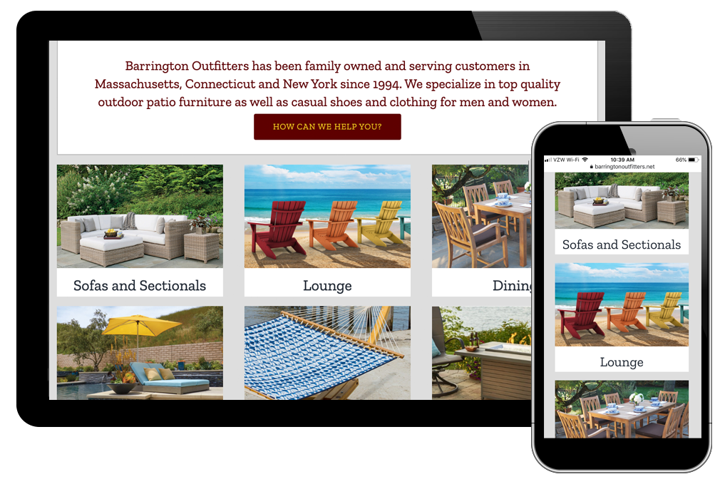 photo of Barrington Outfitters home page